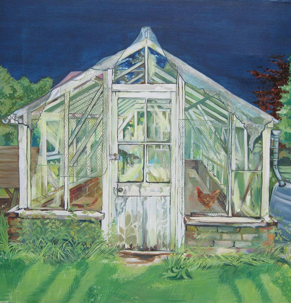 Bronwen Varncombe's greenhouse