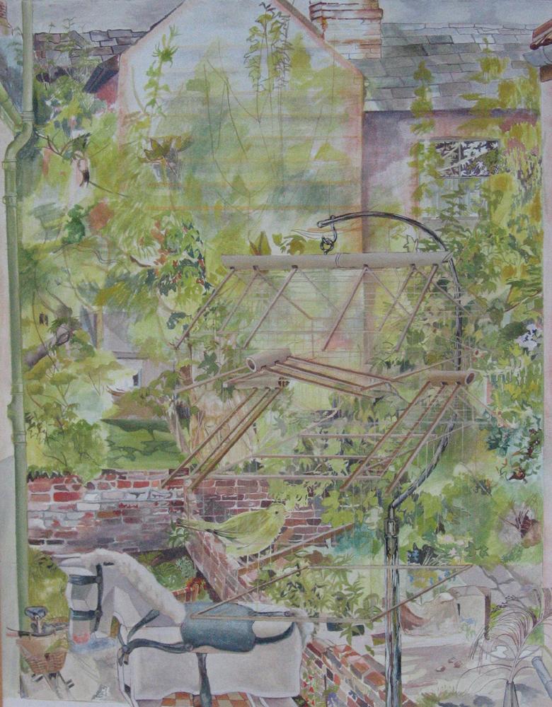 Daytime birdcage painting