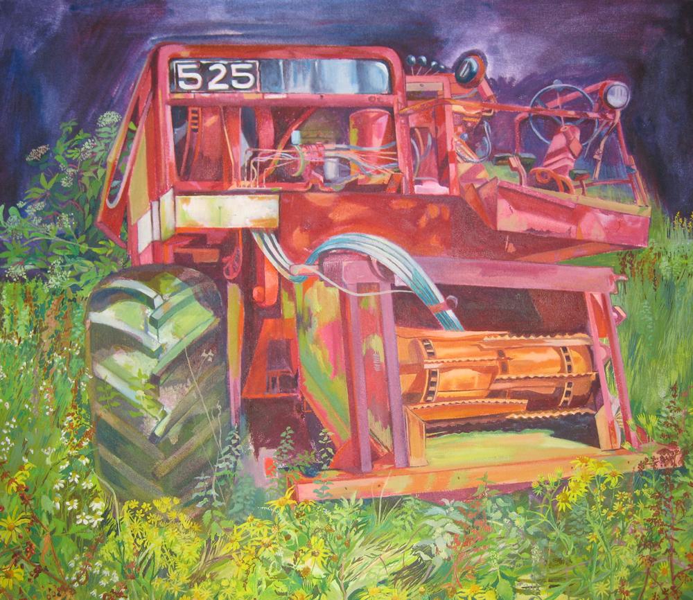 Nick Gamblin's combine harvester